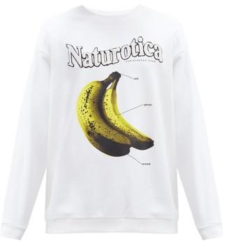 Christopher Kane Naturotica Banana-print Cotton-jersey Sweatshirt - White