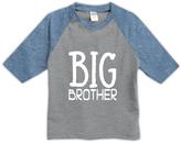 Urban Smalls Heather Gray & Blue 'Big Brother' Raglan Tee - Toddler & Boys