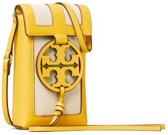 Tory Burch Miller Canvas Quadrant Phone Crossbody
