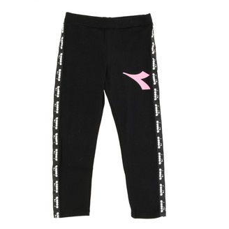Diadora Trousers In Stretch Fabric With Logo