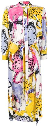 Stella McCartney Kaela horse-print dress