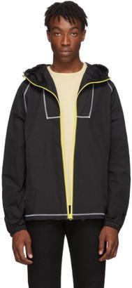 John Elliott Black High Shrunk Full Zip Jacket