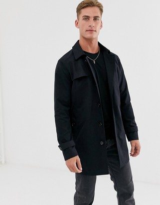 Selected trench coat in black