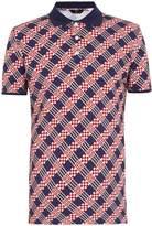 Fendi Logo damier-pattern polo shirt