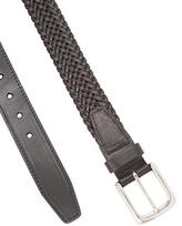 Cole Haan Elastic Braid Square Buckle Belt