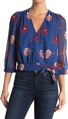 Madewell Effie Floral Woven Wrap Top