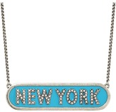 Marc Jacobs Charms Paradise New York Nameplate Pendant Necklace Necklace