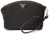 Prada Leather-trimmed make-up bag