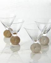 Slant Collections Ball-Stem Martini Glasses, Set of 2