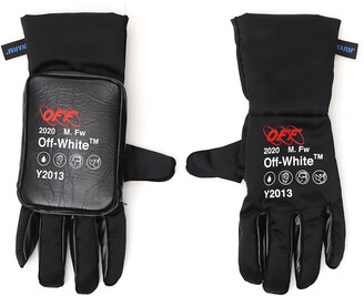 Off-White Logo Printed Ski Gloves
