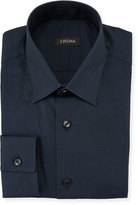 Z Zegna Mini Check Dress Shirt