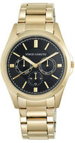 Vince Camuto Goldtone Stainless Steel Chronograph, VC-1084BKGP