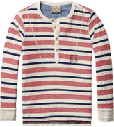 Scotch & Soda Striped Grandad T-Shirt