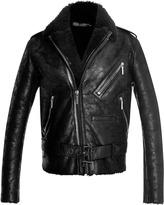 Anthony Vaccarello Perfecto Shearling Short Jacket