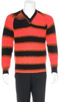 Y-3 Striped V-Neck Sweater