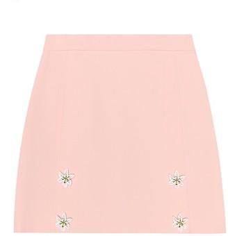 Dolce & Gabbana Kids Embellished crApe skirt