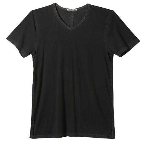 Cotton Citizen - Men's Short Sleeve V-Neck Tee - Black