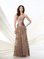 Mon Cheri Montage by Mon Cheri - 214955 Long Dress In Taupe