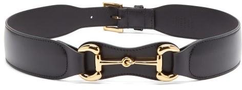 Gucci Horsebit Leather Belt - Black