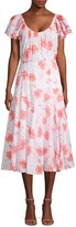 Rebecca Taylor Louise Floral Midi A-Line Dress