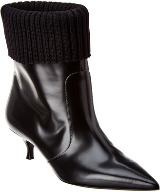 Christian Dior Beat Leather Ankle Bootie