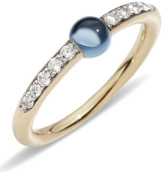 Pomellato M'ama non M'ama London Blue Topaz and Diamond Ring