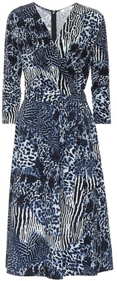 Max Mara Acume crepe and cotton midi dress