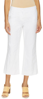 Lafayette 148 New York Downtown Cotton Flared Cropped Pant