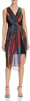 Laundry by Shelli Segal Printed Chiffon Overlay Dress