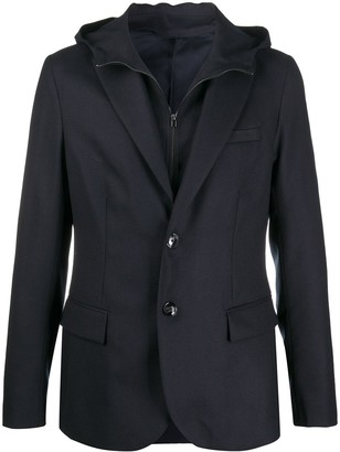 Emporio Armani Long Sleeve Hooded Blazer