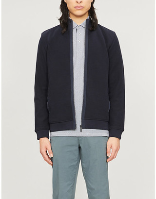 Ted Baker High-neck cotton-knit cardigan