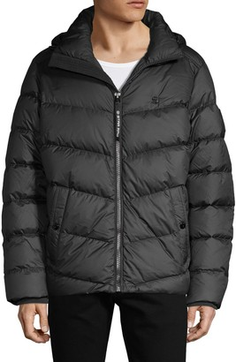 G Star Raw Quilted Puffer Hooded Jacket