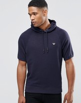 Armani Jeans Hoodie With Short Sleeves