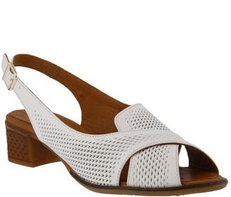 Spring Step Leather Slingback Sandals - Akala