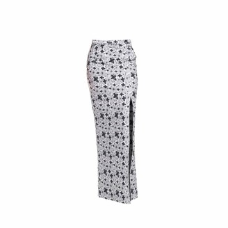Philosofée By Glaucia Stanganelli Graphic Floral Print Maxi Skirt
