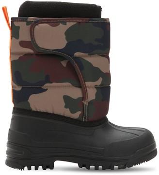 Ralph Lauren Logo Camo Nylon Canvas Snow Boots