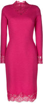 Ermanno Scervino floral lace trim dress