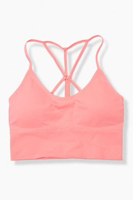 Forever 21 Seamless Caged-Back Sports Bra