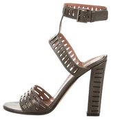 Alaia Metallic Laser Cut Sandals
