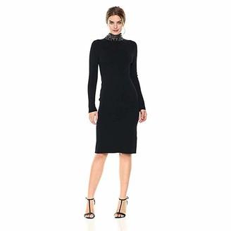 Brinker & Eliza Women's Beaded Neck Sweater Dress