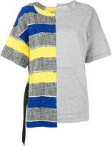 Semi-Couture Semicouture - half and half T-shirt - women - Cotton/Polyamide/Spandex/Elastane - 42