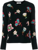 Valentino Popflower embroidered jumper