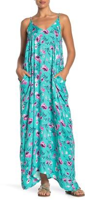Love Stitch Floral V-Neck Sleeveless Maxi Dress
