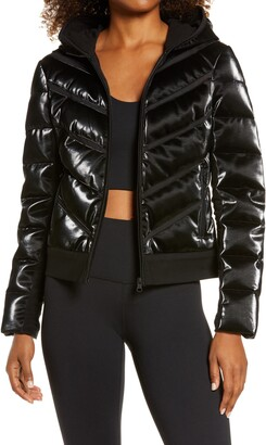 Blanc Noir Freestyle Mesh Inset Down Puffer Jacket