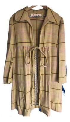 Marni Yellow Wool Coats