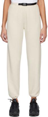 John Elliott Off-White Vintage Fleece Belted Lounge Pants