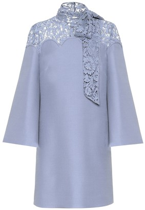 Valentino Lace and crApe minidress