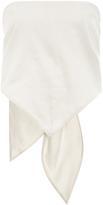 Rosie Assoulin Raw Washed Silk Bandana Top