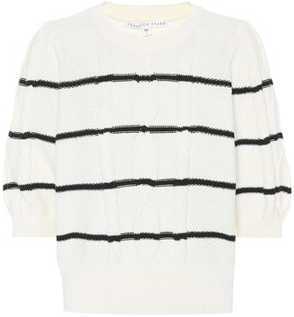 Veronica Beard Moss striped cotton sweater