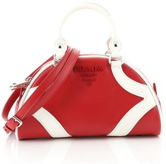 Prada Bowling Convertible Handle Bag Leather Small